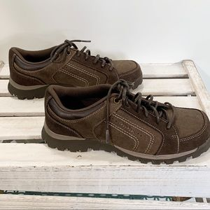 Skechers Grand Jams Cardinal Leather Oxfords NEW